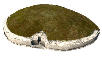 Image from object titled Passage Tomb Chamber, Newgrange (3D model, untextured)