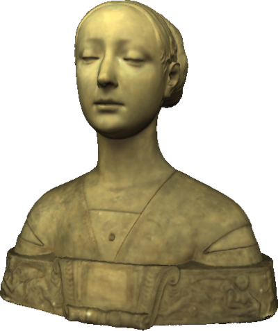 Image from object titled 3D model of Gypsum bust