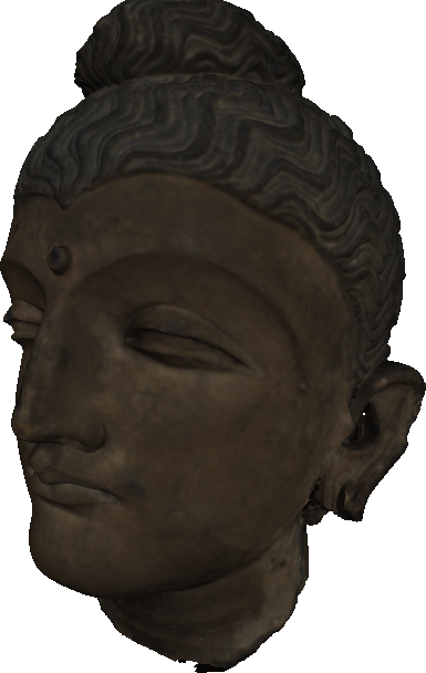 Image from object titled 3D model of Head of Buddha