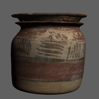 Image from object titled Recipiente cerámico LN121 de la tumba nº 229 de la necrópolis de La Noria (Fuente de Piedra, Málaga). (3D, baja resolución).