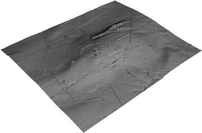 Hill of Tara Archaeological Complex (3D Model, hill-shade texture