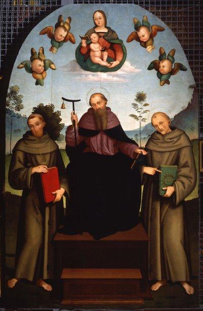 Sant'Antonio Abate in trono tra San Francesco d'Assisi e San Bernardino da Siena