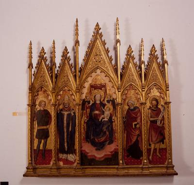 Madonna in trono col Bambino e i santi Ambrogio, Giovanni Battista, Pietro, Vittore, Benedetto e Antonio Abate