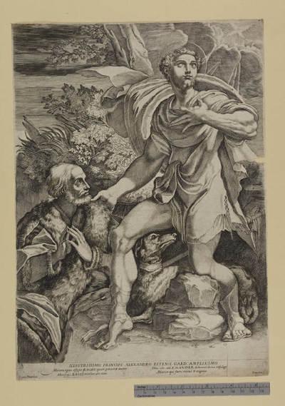 San Rocco intercede per la protezione divina di un devoto