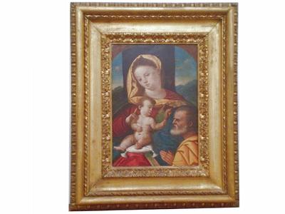 Madonna con Bambino e committente