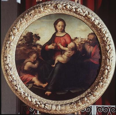 Sacra Famiglia con San Giovanni Battista bambino