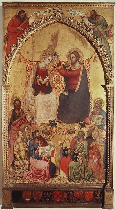 incoronazione di Maria Vergine tra santi e profeti