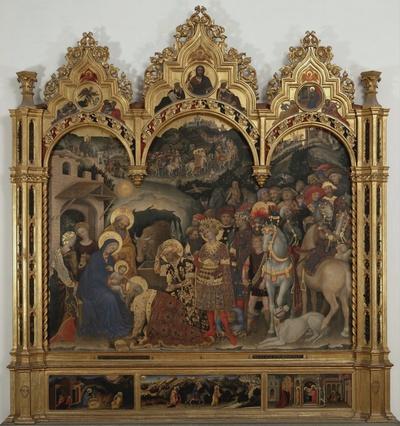adorazione dei Re Magi, episodi dell'infanzia di Cristo, Cristo, profeti,motivo decorativo floreale