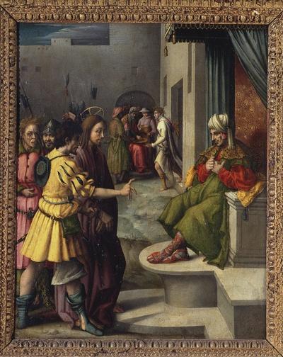Cristo davanti a Caifa