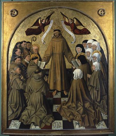 San Francesco d'Assisi presenta la Regola agli ordini francescani