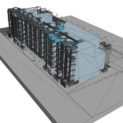 Image from object titled Image 5 du modèle 3D du centre Georges Pompidou