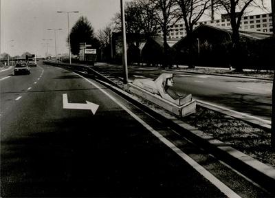 Noorderbrug of Sphinxbrug?Montagefoto's van Sphinxobjecten geplaatst rond de Noorderbrug.