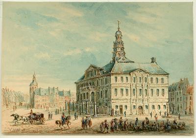 Maastricht. Stadhuis en Markt.