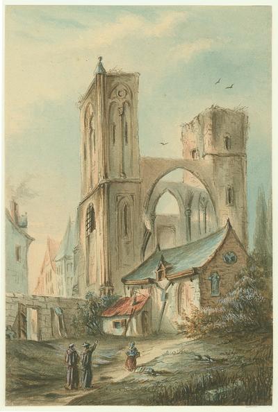 Maastricht. Sint Antoniusstraat. Ruïne Sint Antoniuskerk.