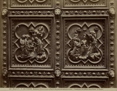 Doop van Christus fragmenten van de bronzen deur