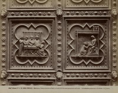 Het Banket bij Herodes fragmenten van de bronzen deur