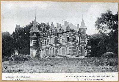 Image from object titled Sclayn (Namur) château de chérimont à M. Jules de Faestraets