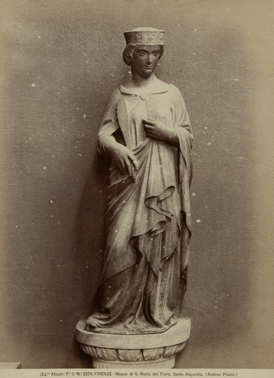 [Standbeeld] H. Vrouwenfiguur Museum S. M. Novella, Florence
