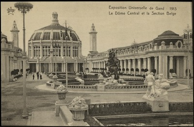 Image from object titled Exposition universelle de Gand - 1913. Le dôme central et la section belge