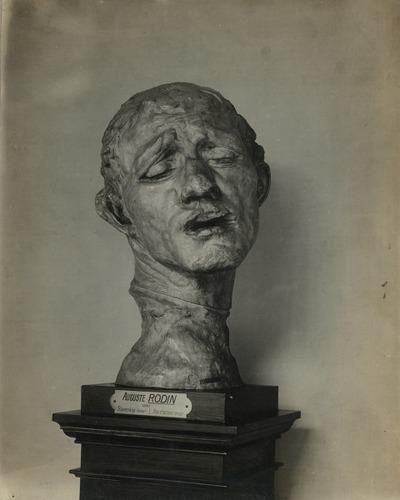 [Borstbeeld] Slavenkop brons