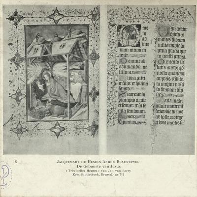 De Geboorte van Jezus Aanbidding door de Koningen miniaturen