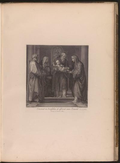 Venerunt in Jerusalem, ut sisterent eum Domino. S. Luc. Cap. II. V. 22 Florentiae in Sacrario S. Marci