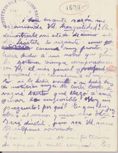 Carta de Agustini, Delmira