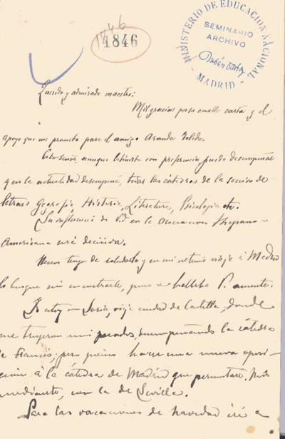 Carta de Machado, Antonio