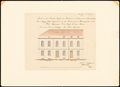 Potsdamer Bürgerhäuser. Bauaufnahmen (sog. Ziller-Mappe) um 1850. Wohnhaus Schloss-Straße 14 (Baujahr 1748 oder 1751)