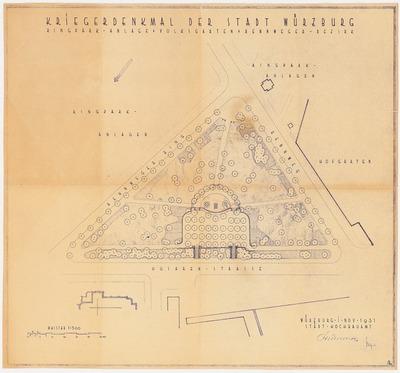 Image from object titled Kriegerdenkmal in Würzburg