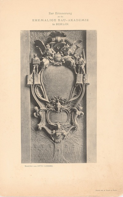 Gedenktafel zur Hundertjahrfeier der Technische Hochschule Berlin gewidmet von ehem. Studierenden der Bauakademie