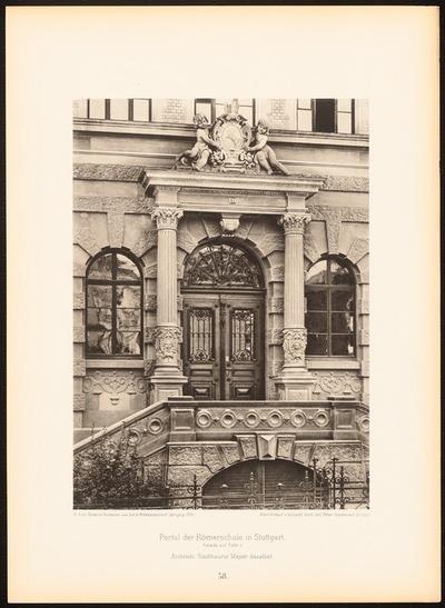 Römerschule, Stuttgart. (Aus: Moderne Neubauten, 1.Jg., hrsg. W. Kick)