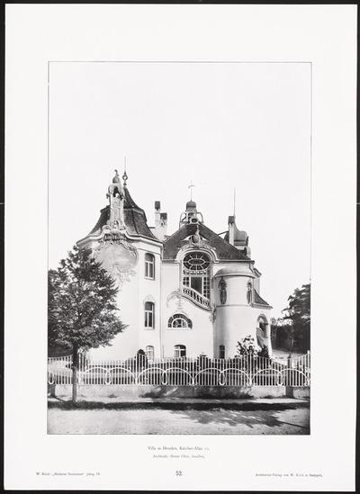 Villa Karcher Allee, Dresden. (Aus: Moderne Neubauten, 4.Jg., hrsg. W. Kick)