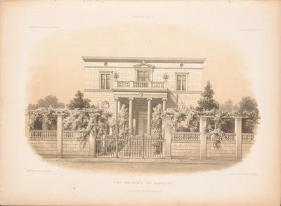 Villa von Arnim, Potsdam. (Aus: Architektonisches Skizzenbuch, H. 65/6, 1863.)