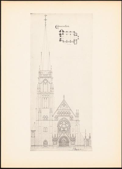 Evangelische Kirche. (Aus: Drucke von Seminararbeiten der Königlich Technischen Hochschule Berlin, Bd. I)