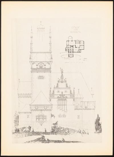 Herrensitz. (Aus: Drucke von Seminararbeiten der Königlich Technischen Hochschule Berlin, Bd. II)