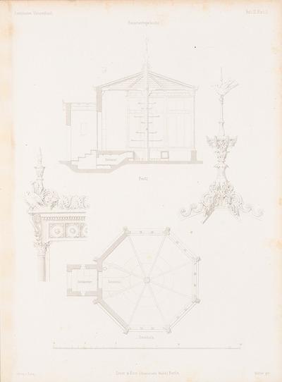 Kanarienvogelhecke. (Aus: Architektonisches Skizzenbuch, H. 3, 1852.)