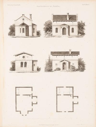 Familienhäuser, Potsdam. (Aus: Architektonisches Skizzenbuch, H. 6, 1852.)