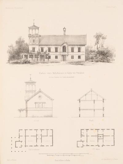 Umbau eines Wohnhauses, Potsdam. (Aus: Architektonisches Skizzenbuch, H. 9, 1853.)