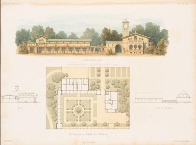 Umbau eines Gehöfts, Potsdam. (Aus: Architektonisches Skizzenbuch, H. 30, 1857.)