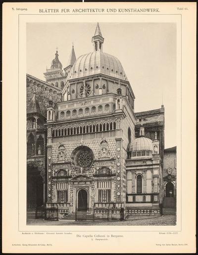 Capella Colleoni, Bergamo. (Aus: Blätter für Architektur und Kunsthandwerk, 10. Jg., 1897, Tafel 65.)