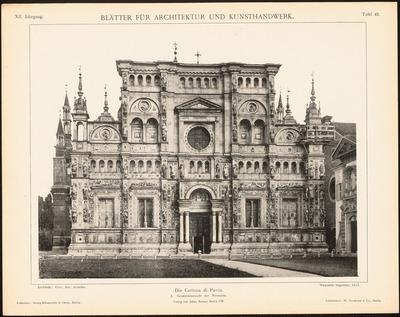 Kloster Certosa di Pavia. (Aus: Blätter für Architektur und Kunsthandwerk, 12. Jg., 1899, Tafel 42.)
