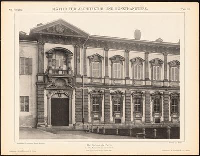 Kloster Certosa di Pavia. (Aus: Blätter für Architektur und Kunsthandwerk, 12. Jg., 1899, Tafel 83.)