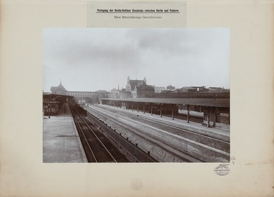 Verlegung der Stettiner Eisenbahn zwischen Pankow und Berlin, Bahnhof Berlin-Gesundbrunnen