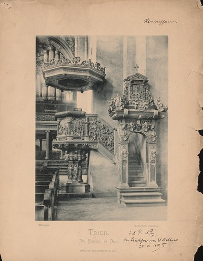 Image from object titled Dom, Trier. Kanzel