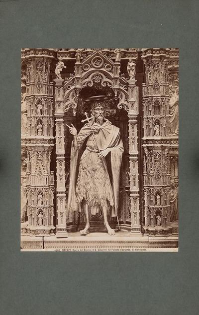 Dom S. Maria del Fiore von Florenz. Silberstatue des S. Giovanni del Paliotto