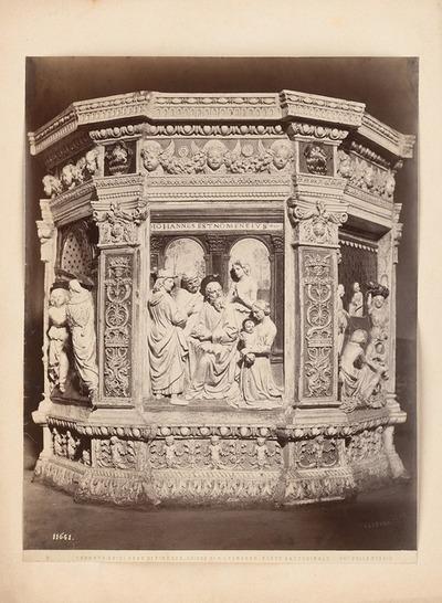 S. Leonardo in Cerreto Guidi. Taufbecken