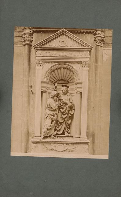 Or´ San Michele in Florenz. Statuen Christus und der ungläubige. Thomas