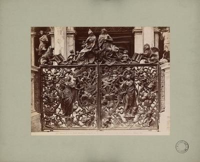 S. Marco in Venedig. Loggetta am Fuß des Campanile mit Bronzepförtchen