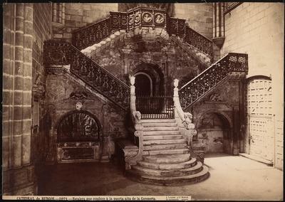 Kathedrale, Burgos. Treppe zur Puerta de la Coroneria